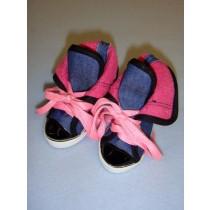 " Shoe - High-Top - 3 1_8"" Colorful Denim"