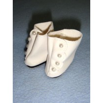 "|Shoe - High Button - 1 1_2"" White"