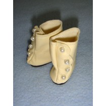 "|Shoe - High Button - 1 3_4"" Cream"