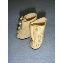 "|Shoe - High Button - 1 3_8""  Cream"