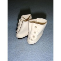"|Shoe - High Button - 1 3_8"" White"