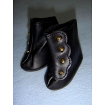 "|Shoe - High Button - 2 3_8"" Black"