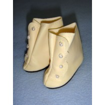 "|Shoe - High Button - 2 3_8"" Cream"