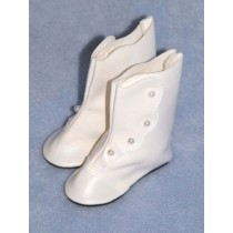 "|Shoe - High Button - 2 7_8"" White"
