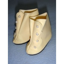 "|Shoe - High Button - 3 1_8"" Cream"