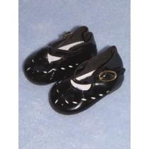 "|Shoe - Mary Jane Cutwork - 2 3_4"" Black"