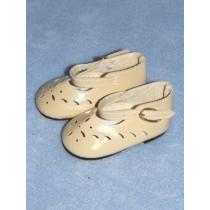 "|Shoe - Mary Jane Cutwork - 2 3_4"" Ecru"