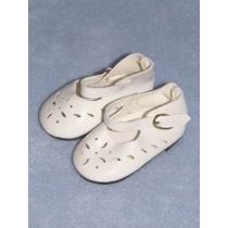 "|Shoe - Mary Jane Cutwork - 2 3_4"" White"