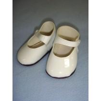 """ Shoe - Mary Jane New Style - 3 1_2"""" White"""