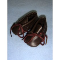 "|Shoe - Moccasin - 2 3_4"" Brown"