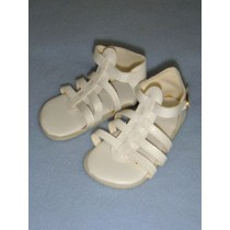 "|Shoe - Multi-Strap Sandal - 3 1_2"" White"