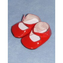 "|Shoe - Patent Button - 2 3_4"" Red"