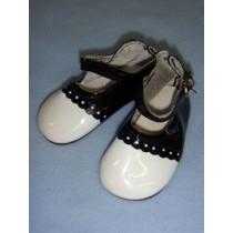 "|Shoe - Patent Dress - 3 3_4"" Black & White"
