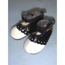 "|Shoe - Patent Dress - 3"" Black & White"