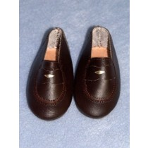 """ Shoe - Penny Loafer - 3"""" Brown"""