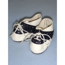 "|Shoe - Saddle - 3"" Navy_White"