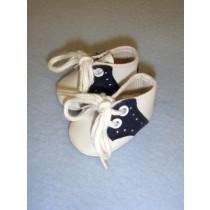 "|Shoe - Saddle Oxford - 2"" Navy_White"