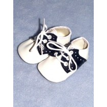 "|Shoe - Saddle Oxford - 3 1_8"" Navy_White"