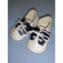 "|Shoe - Saddle Oxford - 3 7_8"" Navy_White"
