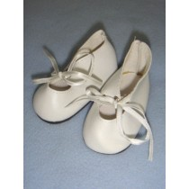 "|Shoe - Satin Tie - 3 1_4"" White"