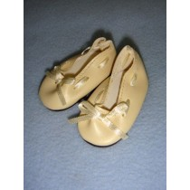 "|Shoe - Slip-On w_Ribbon - 2 3_8"" Cream"