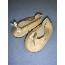 "|Shoe - Slip-On w_Ribbon - 3 1_2"" Cream"