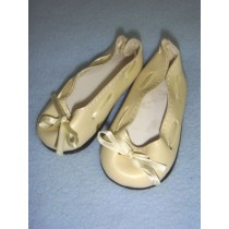"|Shoe - Slip-On w_Ribbon - 3 3_4"" Cream"