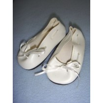 "|Shoe - Slip-On w_Ribbon - 3 3_4"" White"