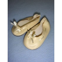 "|Shoe - Slip-On w_Ribbon - 3"" Cream"