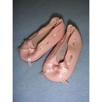 "|Shoe - Slip-On w_Ribbon - 3"" Pink"