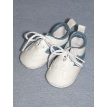 "|Shoe - Sport - 3 1_4"" White w_Blue Trim"