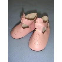 " Shoe - T-Strap - 3"" Pink"