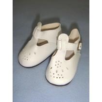 "|Shoe - T-Strap - 3"" White"