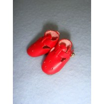 "|Shoe - T-Strap - 7_8"" Red"