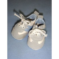 "|Shoe - Tennis - 2 5_8"" w_Light Blue Trim"