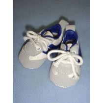 """ Shoe - Tennis - 2 5_8"""" w_Royal Blue Trim"""