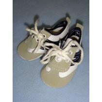 "|Shoe - Tennis - 2 7_8"" w_Navy Blue Trim"