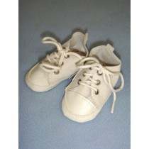 " Shoe - Tennis - 3 1_8"" White Suede"