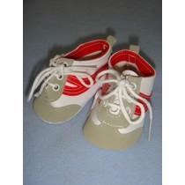 "|Shoe - Tennis - 3 7_8"" w_Red Trim"