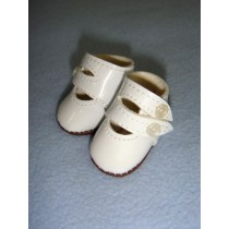 "|Shoe - Two-Strap Patent - 1 3_4"" White"