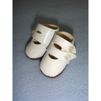 "|Shoe - Two-Strap Patent - 2"" White"