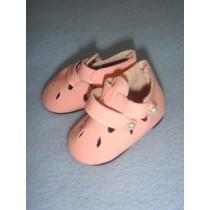 "|Shoe - Two-Strap Patent w_Cutwork - 2 1_2"" Pink"