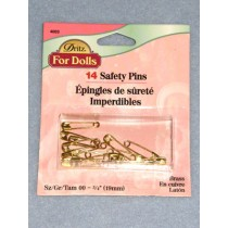 |Size 00 Safety Pins - Pkg_14