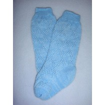 "|Sock - Fancy Diamond Knee-High - 24-26"" Blue (8)"