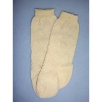"|Sock - Fancy Diamond Knee-High - 8-11"" Ivory (00)"