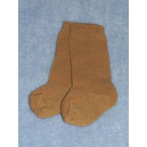 "|Sock - Knee-High Cotton - 18-20"" Brown (4)"