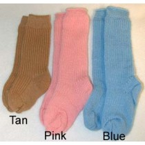 "|Sock - Knee-High Cotton - 18-20"" Pink (4)"