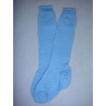 "|Sock - Knee-High Cotton - 21-24"" Blue (6)"