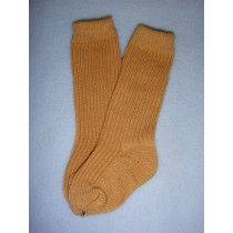 "|Sock - Knee-High Cotton - 21-24"" Brown (6)"