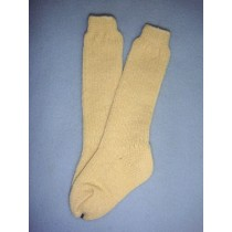 "|Sock - Knee-High Cotton - 21-24"" Ivory (6)"